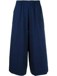 Antonio Marras Wide Leg Cropped Trousers Blue