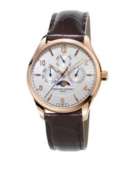 Frederique Constant Runabout Moon Phase And Chronographic Leather Watch Black