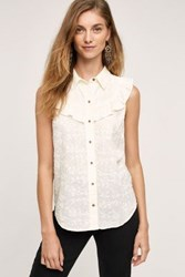 Maeve Windflower Ruffled Blouse Ivory