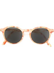 See Concept Round Shaped Sunglasses Yellow And Orange