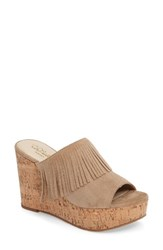 Ariat Women's Unbridled Leigh Fringe Mule Sand Suede