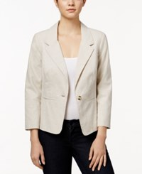 Kensie One Button Notched Lapel Blazer