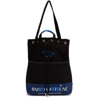 Maison Kitsune Black Ader Error Edition Layout Tote
