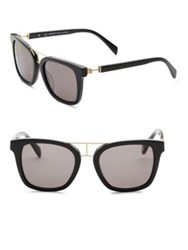 Balmain Modified 52Mm Wayfarer Sunglasses Black