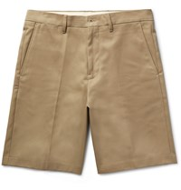 Acne Studios Adrian Cotton Blend Chino Shorts Tan