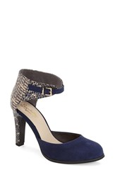 Women's Seychelles 'Hopeful' Ankle Strap Pump Navy Suede Leather