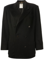 Celine Vintage Double Breasted Jacket Black