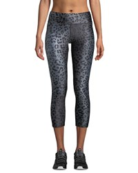 Terez Animal Print Tall Band Capri Length Leggings Cheetah