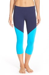 Alo Yoga Women's Alo 'Electra' Capri Leggings Rich Navy Seaport Blue