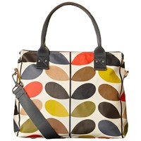 Orla Kiely Matt Laminated Giant Stem Print Messenger Bag Multi