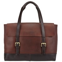 John Lewis And Co. Leather Tote Bag Brown