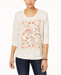 Style And Co Graphic Print Sweatshirt Created For Macy's Floral