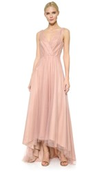 Monique Lhuillier Bridesmaids High Low Tulle Dress Shell