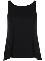 Peter Cohen Flared Tank Top Black