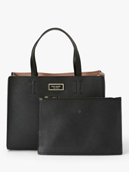 Kate Spade New York Watson Lane Sam Leather Medium Satchel Bag Black