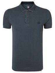Pretty Green Paisley Polo Shirt Navy