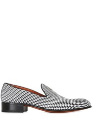Rodolphe Menudier Two Tone Woven Leather Loafers