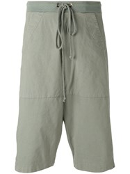 Lost And Found Rooms Sage Drop Crotch Shorts Green