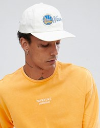 Mitchell And Ness Vintage Baseball Cap Golden State Warriors Exclusive To Asos White