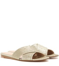 Gianvito Rossi Glitter Sandals Gold