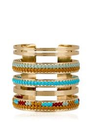 Camille Enrico Magna Brass And Woven Cotton Bracelet