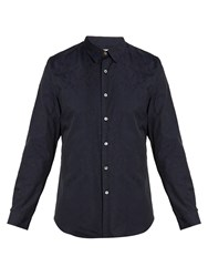 Paul Smith Floral Jacquard Cotton Shirt Navy