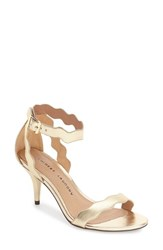Women's Chinese Laundry 'Rubie' Scalloped Ankle Strap Sandal Gold