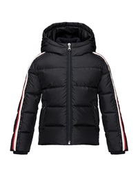 Moncler Odile Hooded Down Coat Navy Size 2 3