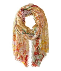 Echo Boho Queen Paisley Wrap Cherry Scarves Red
