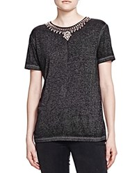 The Kooples Necklace Tee Gray