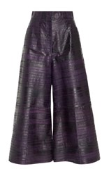 By. Bonnie Young Eel Leather Culottes Purple