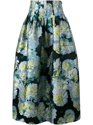 Adam By Adam Lippes Full Floral Skirt Black