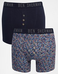 Ben Sherman 2 Pack Boxers Blue