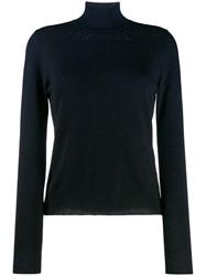 Fendi Long Sleeved Sweater Blue