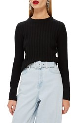 Topshop Rib Sweater Black