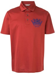 Gieves And Hawkes Logo Polo Shirt Red