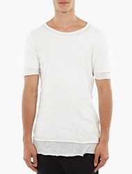 Thom Krom White Double Layer T Shirt