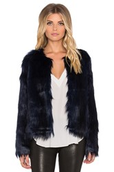 Unreal Fur Unreal Dream Faux Fur Jacket Blue