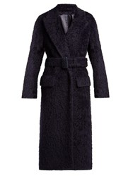 Joseph Paddington Belted Alpaca Blend Coat Navy