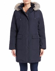 Calvin Klein Plus Water Resistant Down Filled Coat Navy