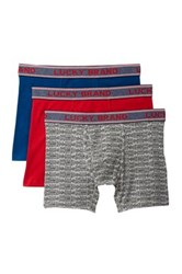 Lucky Brand Stretch Boxer Brief Pack Of 3 Multi