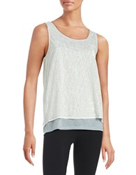 Marc New York Layered Split Back Tank Grey