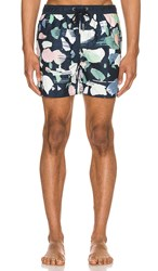 Native Youth Terrazzo Swim Short In Navy. Navy Multi Print