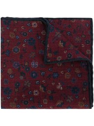 Canali Floral Print Handkerchief Red