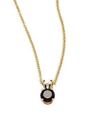 Effy Smoky Quartz And 14K Yellow Gold Pendant Necklace
