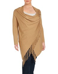 Chelsea And Theodore Plus Poncho Inspired Pullover Beige
