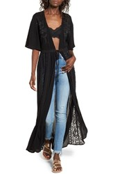 Sun And Shadow Women's Lace Inset Duster