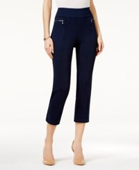 Style And Co Petite Pull On Cropped Pants Only At Macy's Galaxy Wash