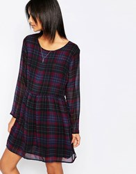 Pepe Jeans Bloom Plaid Babydoll Dress 0Aamulti