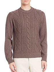 Saks Fifth Avenue Cable Knit Silk And Cashmere Sweater Blue